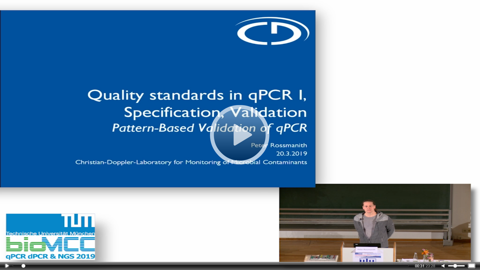 Quality Standards in quantitative PCR; Specification, Validation, Controls and Standards